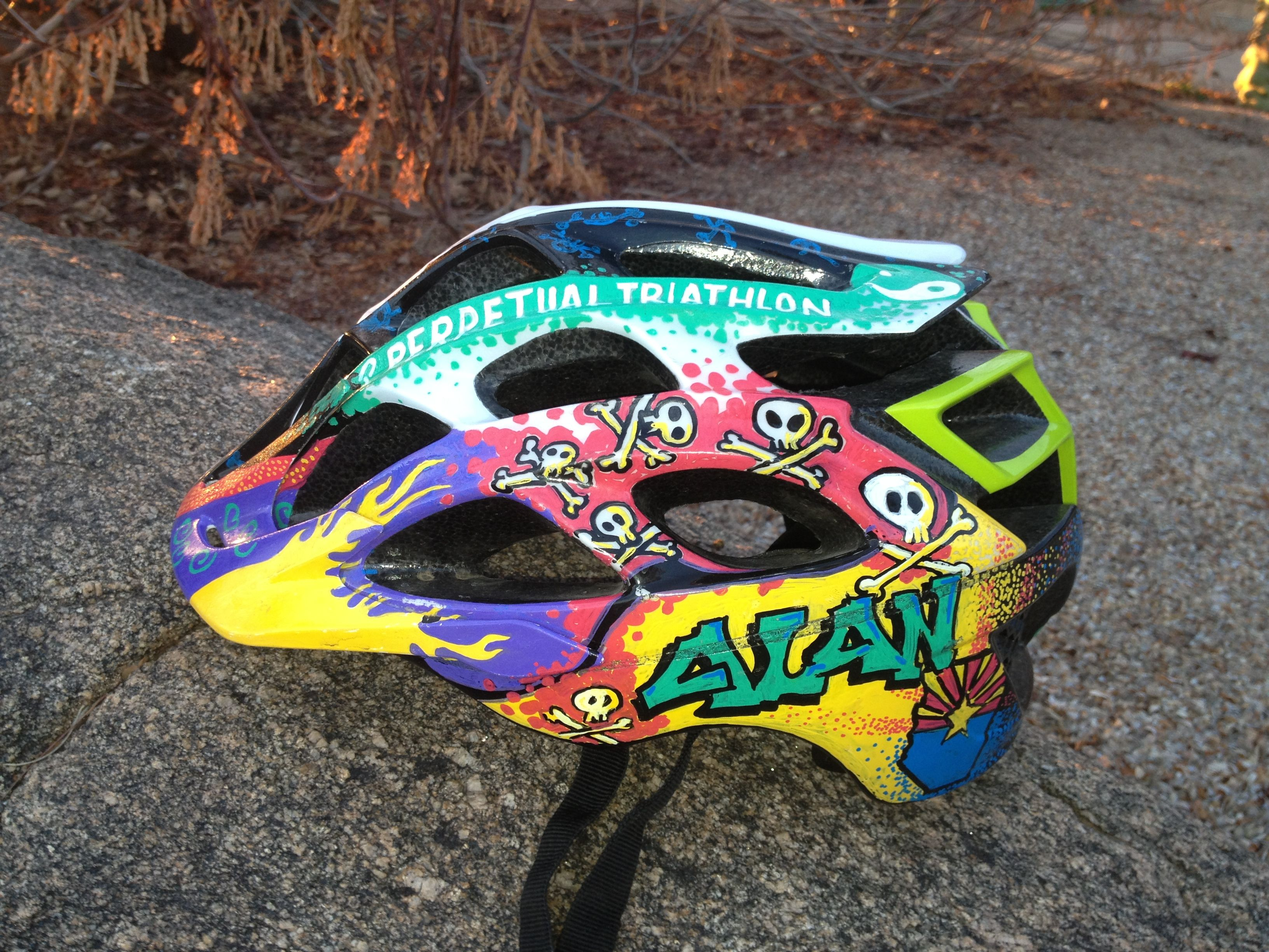 My Current Mtn Bike Helmet I Used Paint Markers On This Gem