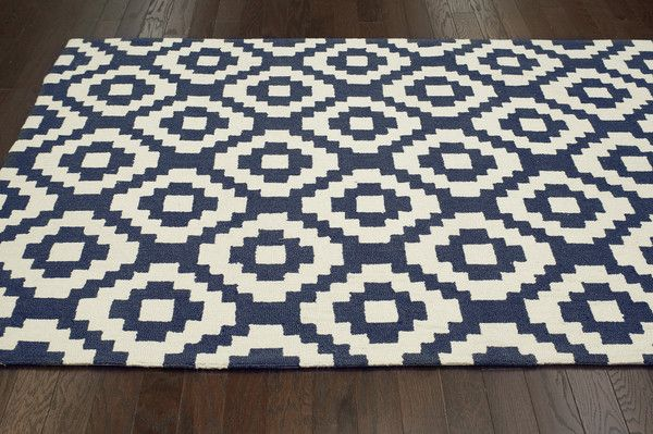 Ladi 100 Wool Area Rug In Navy Design By Nuloom Affordable Rugs Rugs Usa Geometric Area Rug