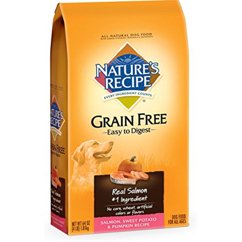 Nature S Recipe Grain Free Easy To Digest Salmon Sweet Potato Pumpkin Recipe Dry Dog Food 4 Pound To Dry Dog Food Grain Free Dog Food Premium Dog Food
