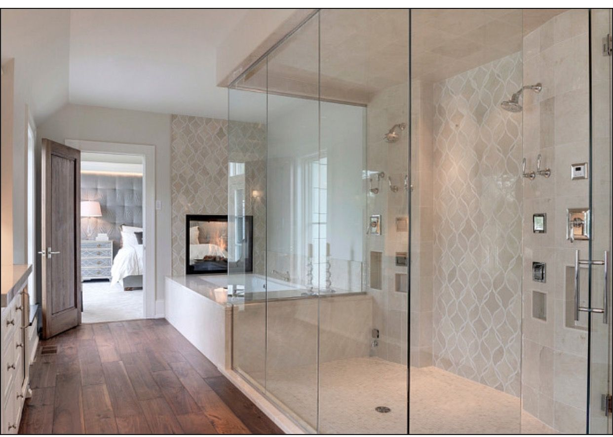 Pin By Ed Robertson On Master Bath Wood Floor Bathroom Hardwood Floors In Bathroom Bathroom Layout