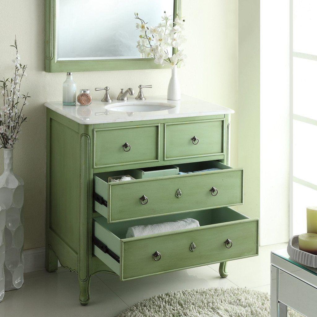 Superb Vintage Bathroom Vanity Green Tilt Superb Cast Iron Vintage ...