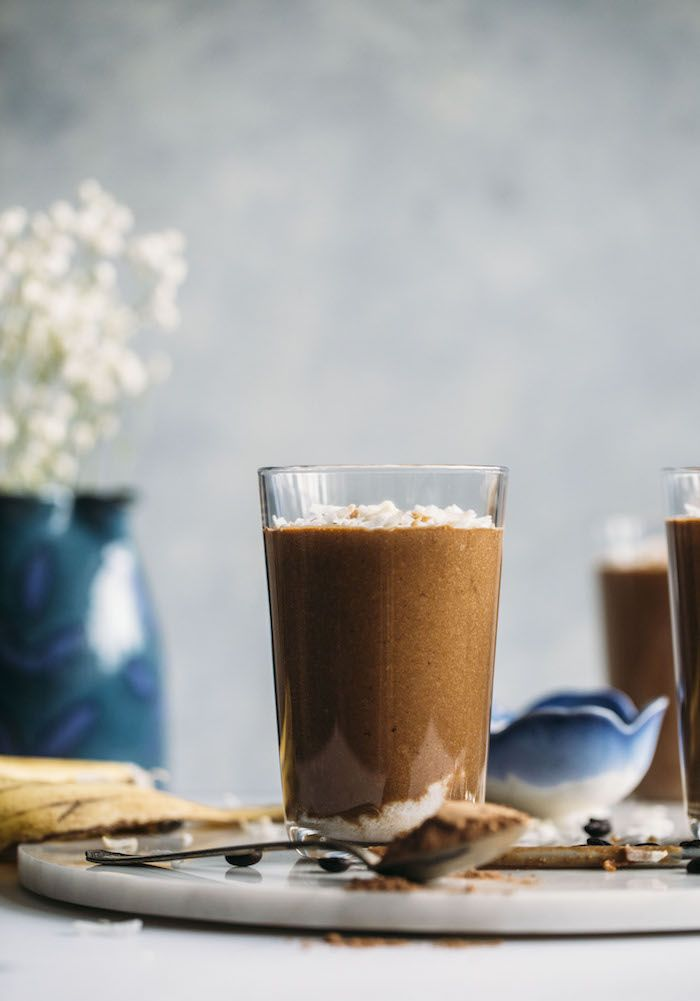 A Toasted Coconut Espresso Smoothie made with good-for-you ingredients and plenty of coconut flavor!
