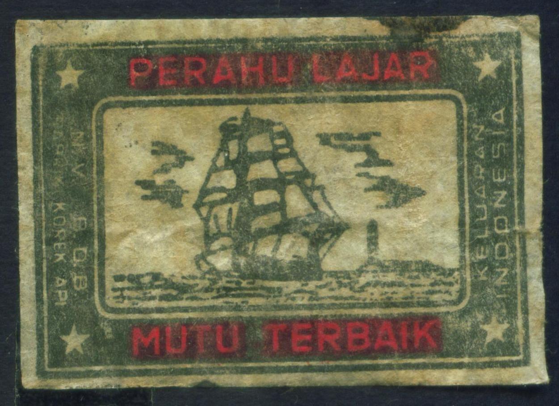 Koleksi 14 bh. Label Korek api Indonesia Jadul (Dengan