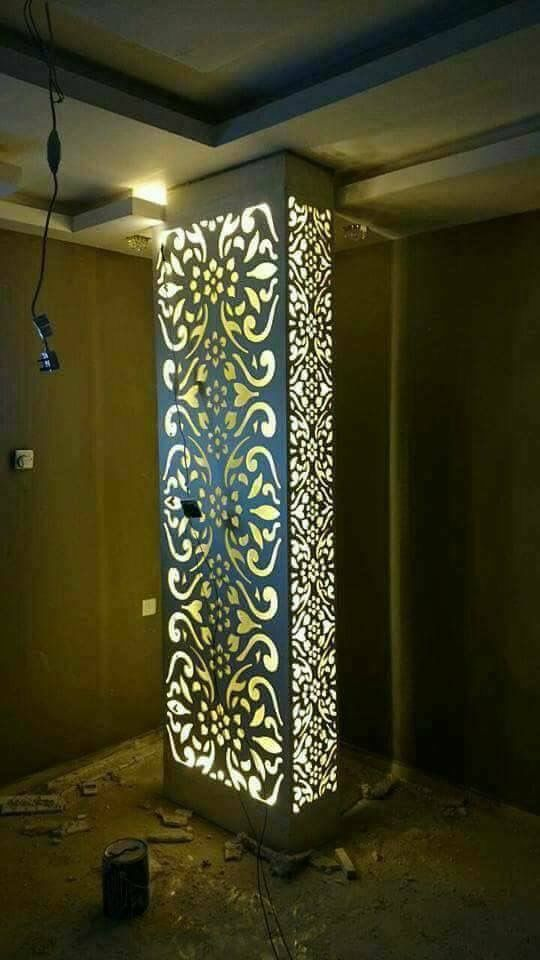 Pilares Iluminados In 2019 Pillar Design Ceiling Design