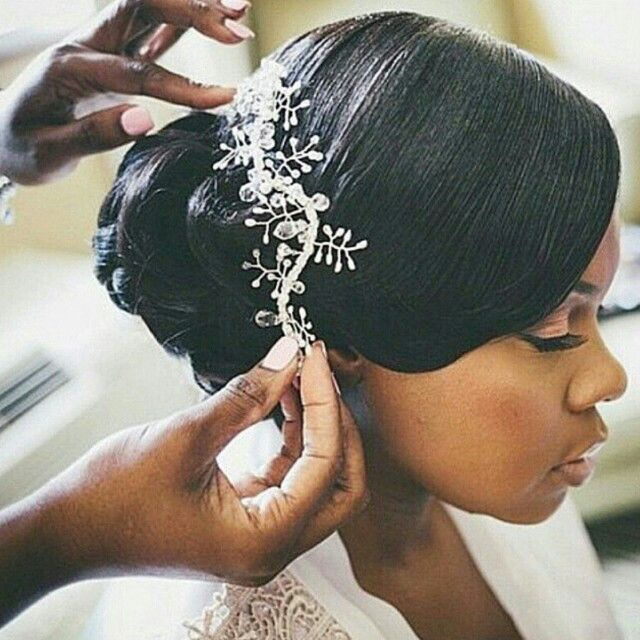 19 Beautiful African American Wedding Hairstyles With Weave Black Wedding Hairstyles Wedding Hairstyles For Girls Natural Wedding Hairstyles