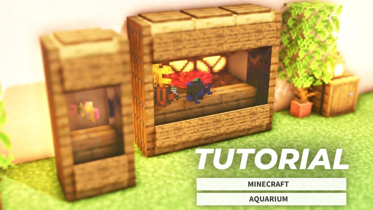Aquariums Minecraft How To Build A Small Aquarium Design Tutorial Aquarium Design Minecraft Minecraft Designs
