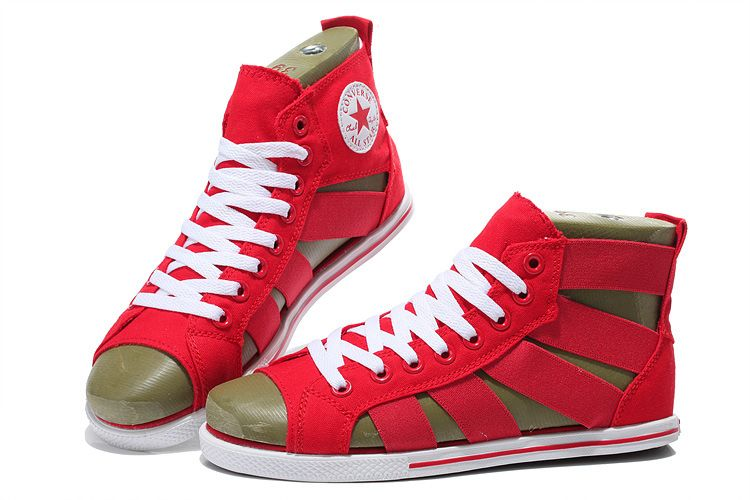 eb77e9b9264227 Red Converse Open Toe Elastic Band Summer All Star Roman Sandals  converse   shoes