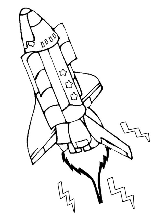 free online space shuttle colouring page  weltraum