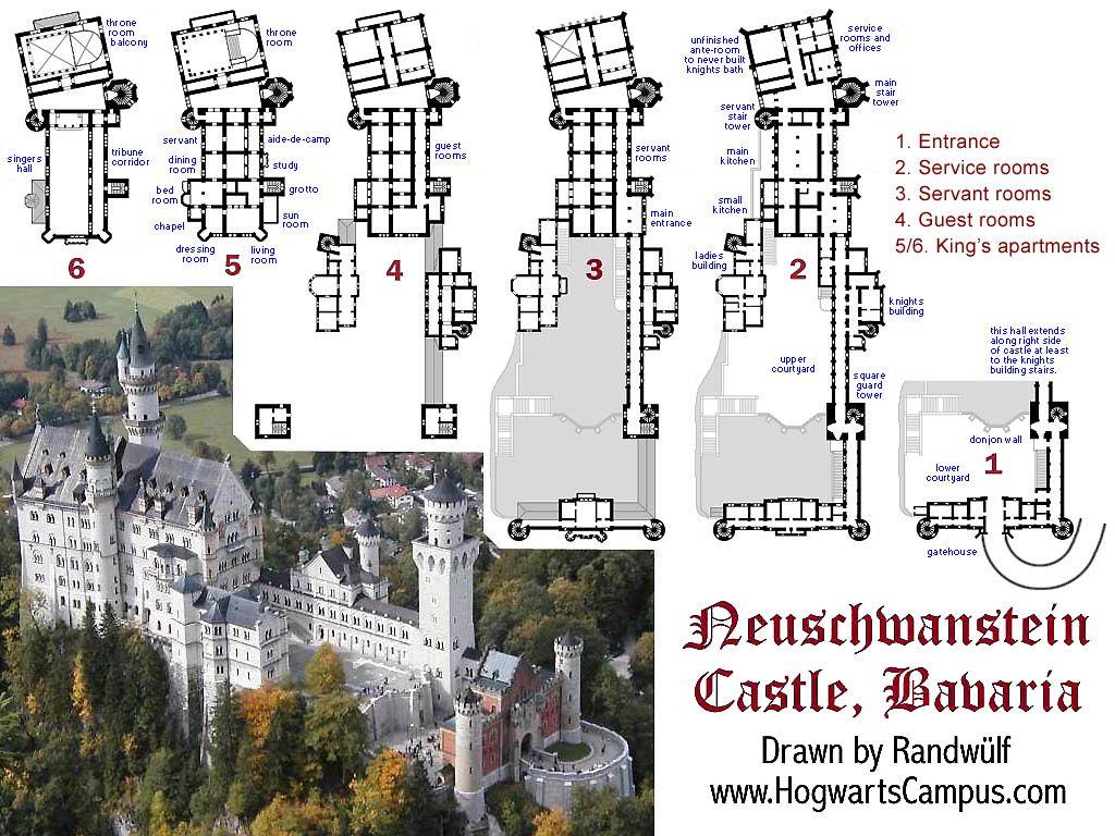 Famous building blueprints detailed floor plans of for Chateau blueprints