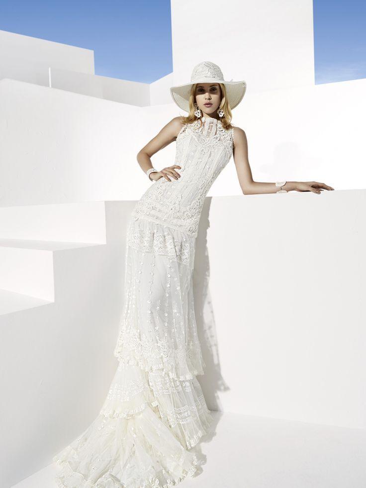 yolan cris boho wedding dress for your chic wedding ceremony | f