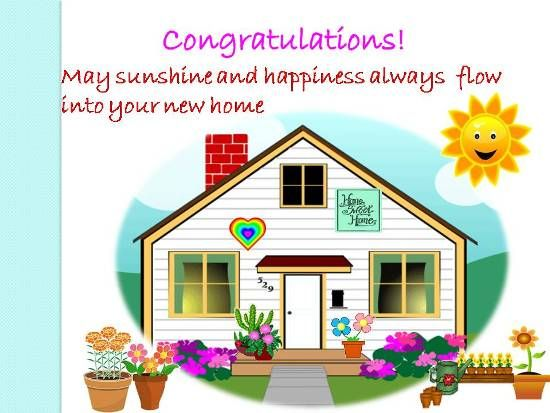 Convey Your Happiness... | New home wishes, Congratulations new ...