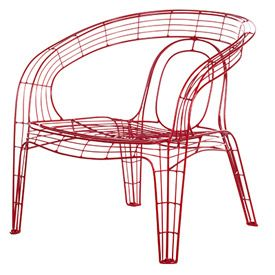 Pamela Wireframe Chair | Minimalist Seating | SofasAndSectionals Blog |