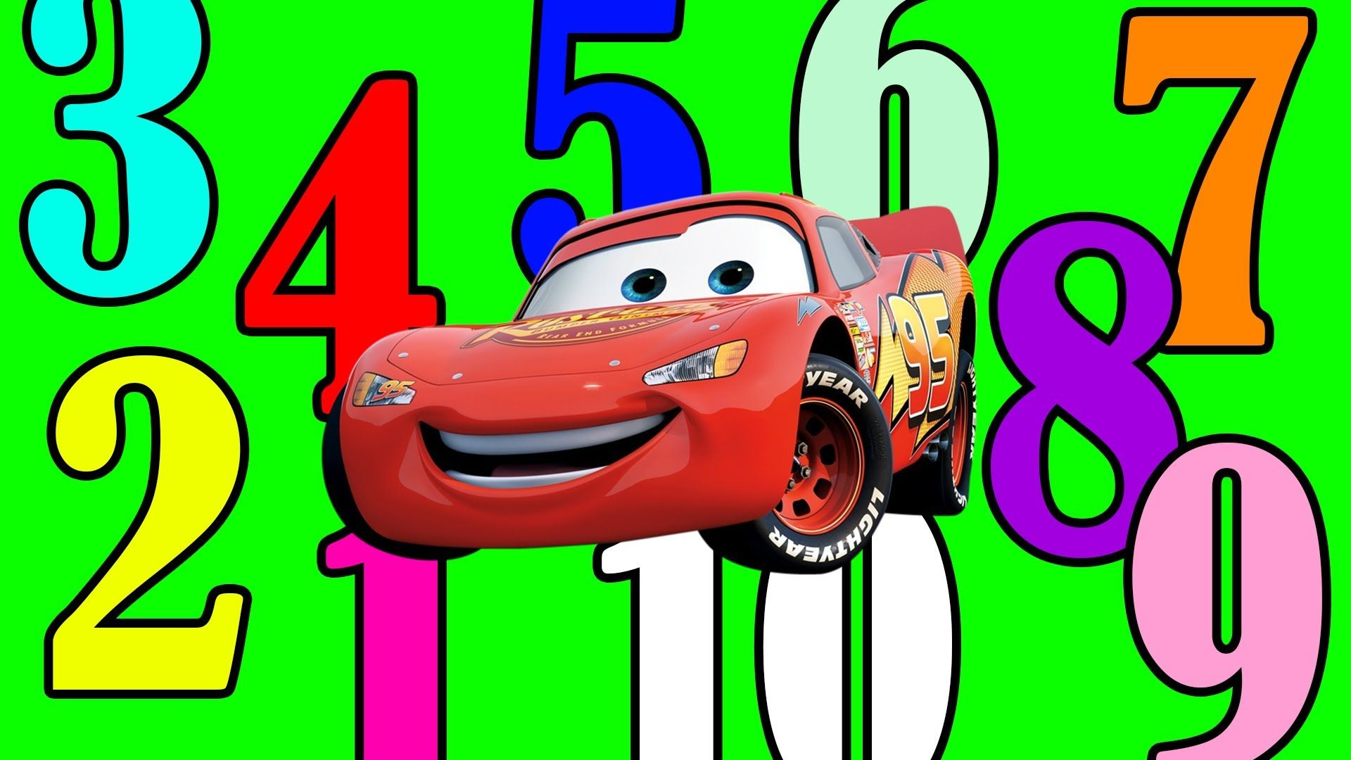 Counting To 10 With Disney Pixar Cars Lightning Mcqueen