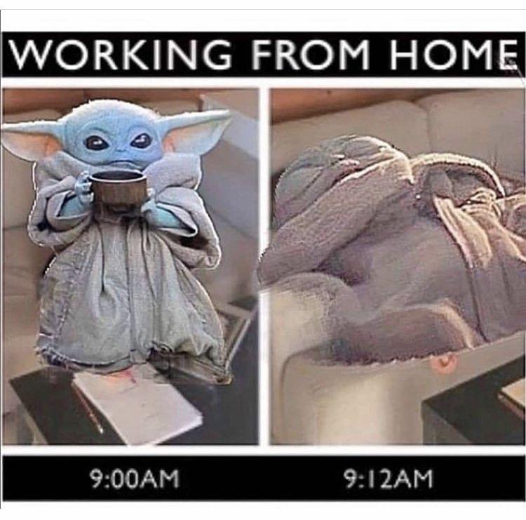 Baby Yoda Working From Home Yoda Funny Yoda Meme Yoda Images