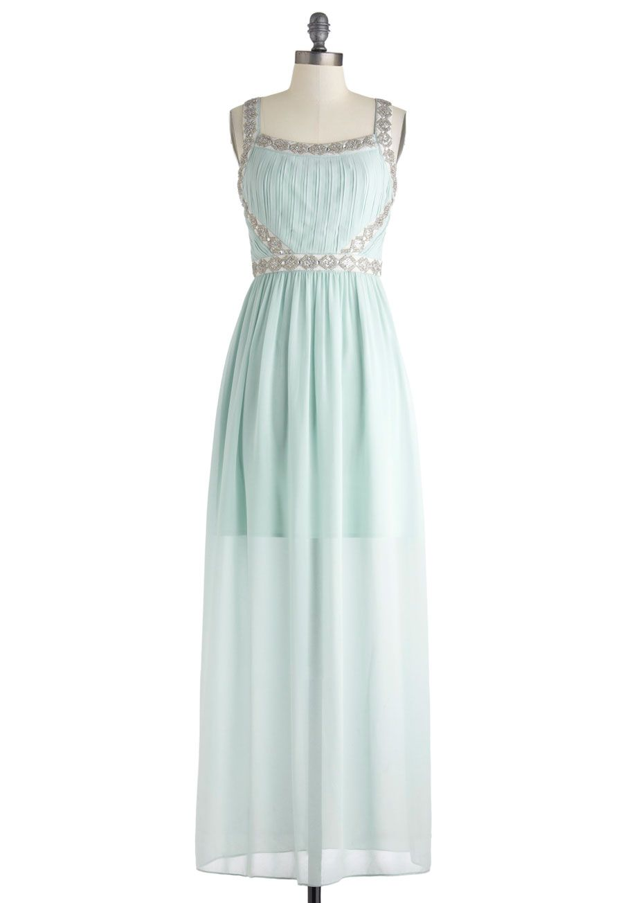 Feeling serene maxi dress in forest pastel mint formal prom and