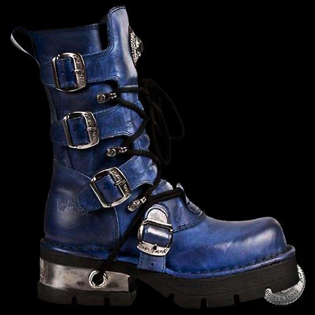 New Rock Alaska Blue Boots 373 C32 In 2019 Punk Boots