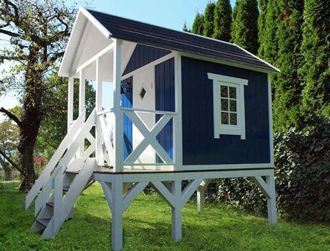 Stelzenhaus / Holz / Schwedenhaus auf Stelzen Spielhaus