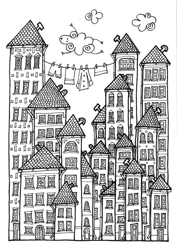 Kids House Drawing: House Colouring Pages, Coloring