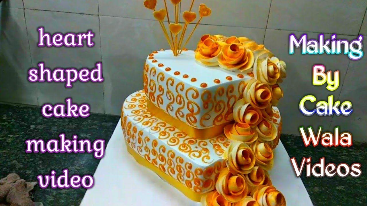 Heart Shaped Step Cakes Engagement Anniversary Cake 2 Step Maiking