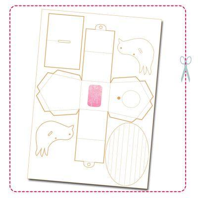 C est mercredi je colorie xmas easy gifts paper box template paper toys et paper houses - Gabarit maison en carton ...