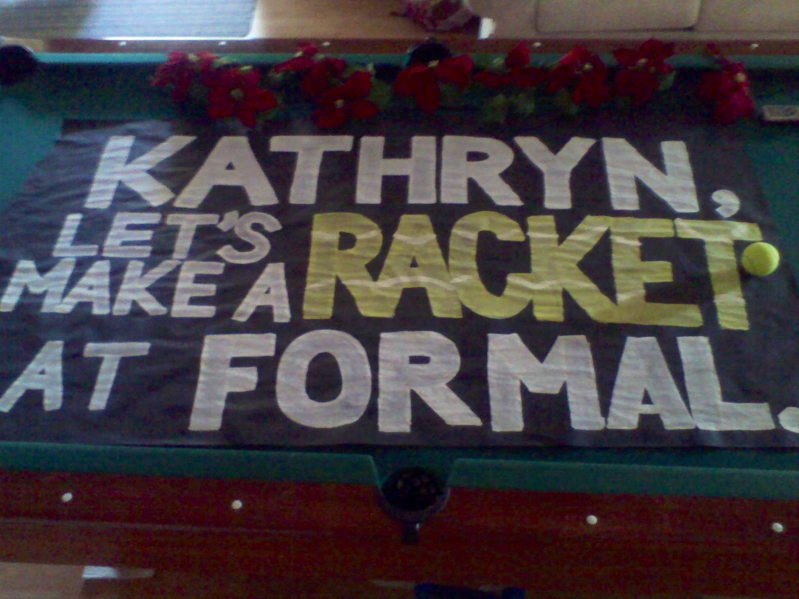 How To Ask A Tennis Player To A Dance! Painted The Word
