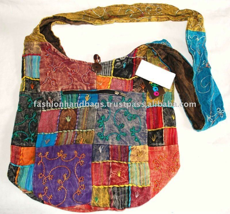 Bolsa De Tecido Hippie : Moda indiana bordada patchwork lona bolsa de compras