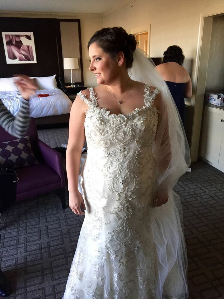 Beaded plus size wedding dresses from the Darius Collection ...
