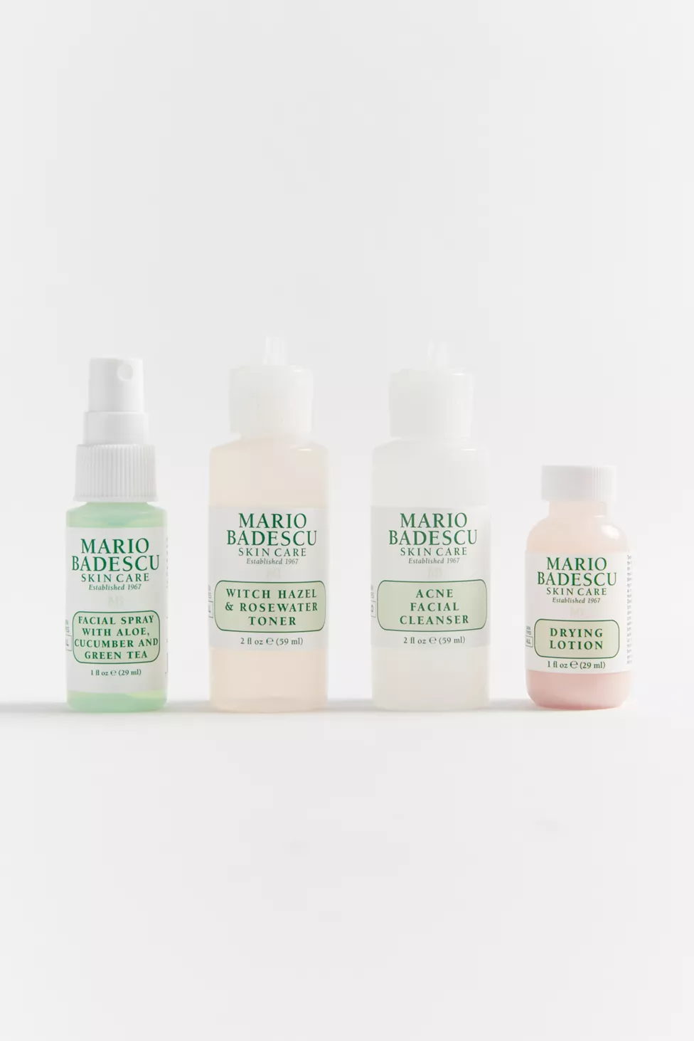Mario Badescu Uo Exclusive Mini Must Haves Set Urban Outfitters In 2020 Facial Spray Witch Hazel Acne Skincare Set