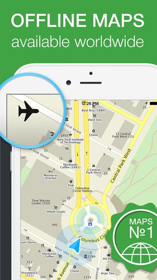 me offline map with navigation directions on the app store travel directions