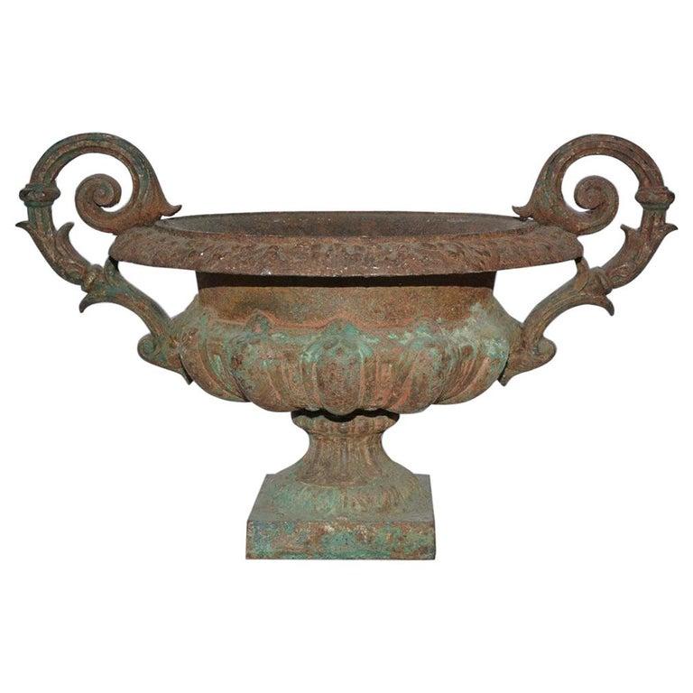 19th Century Cast Iron Garden Urn In 2020 Antique Urn French Garden Urns Antique Cast Iron