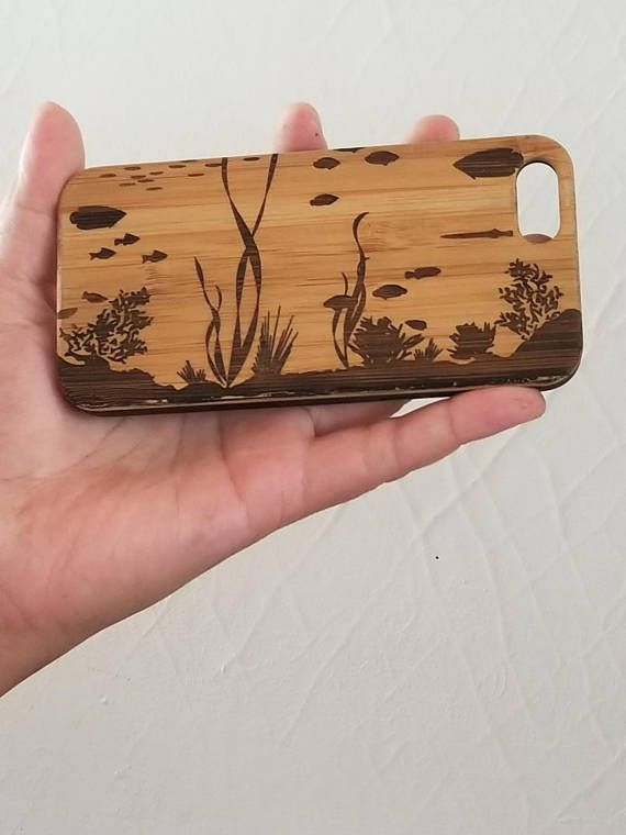 Coral Reef bamboo wood iPhone case for iPhone 6, iPhone 6s, iPhone 6 plus, iPhone 7, iPhone 7 plus, iPhone 8, iPhone 8 plus, iPhone X