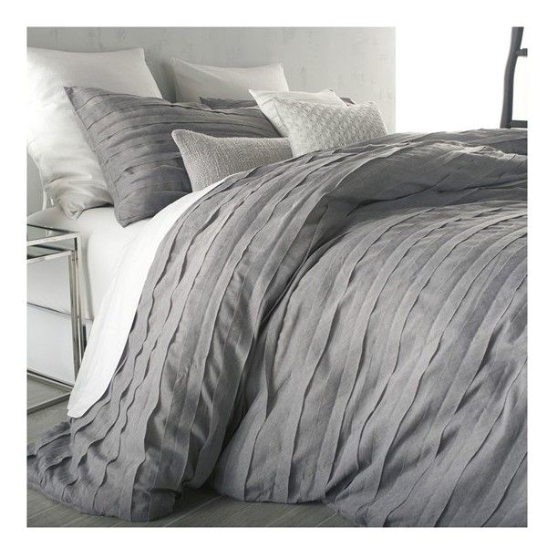 dkny u0027loft stripeu0027 duvet cover 550 ils liked on polyvore featuring home bed u0026 bath bedding duvet covers grey striped twin bedding grey king size