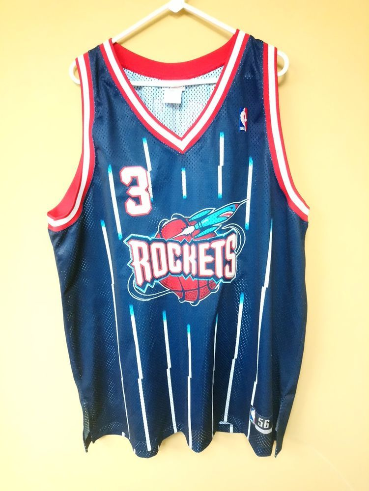buy popular b9d89 2679a Reebok Steve Francis Jersey Size 56 Houston Rockets Sewn ...