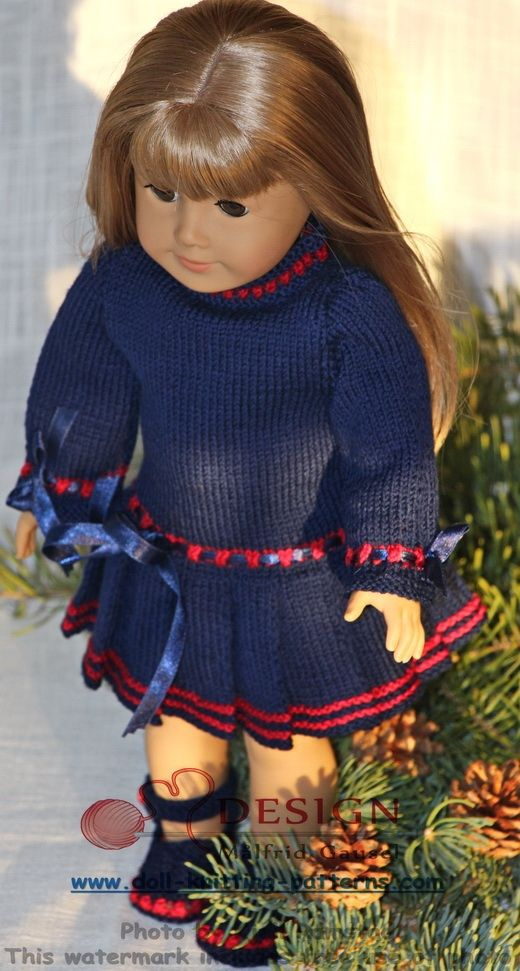 Free dolls clothes knitting patterns | Maalfrid-Gausel Knitting ...