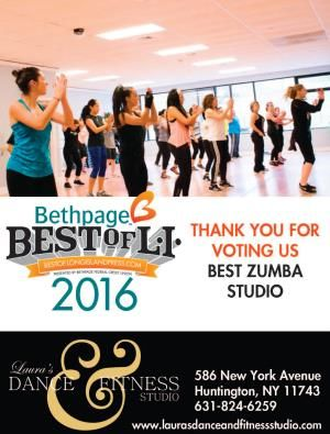 Laura S Dance Fitness Studio Wins Bethpage Best Of Long Island Award Dance Workout Fitness Studio Dance