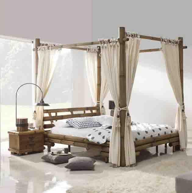 Dekoratives Bambus-Himmelbett JIMBARAN. Dekoration Beltrán, Ihr Webshop für Himmelbetten aus Holz.