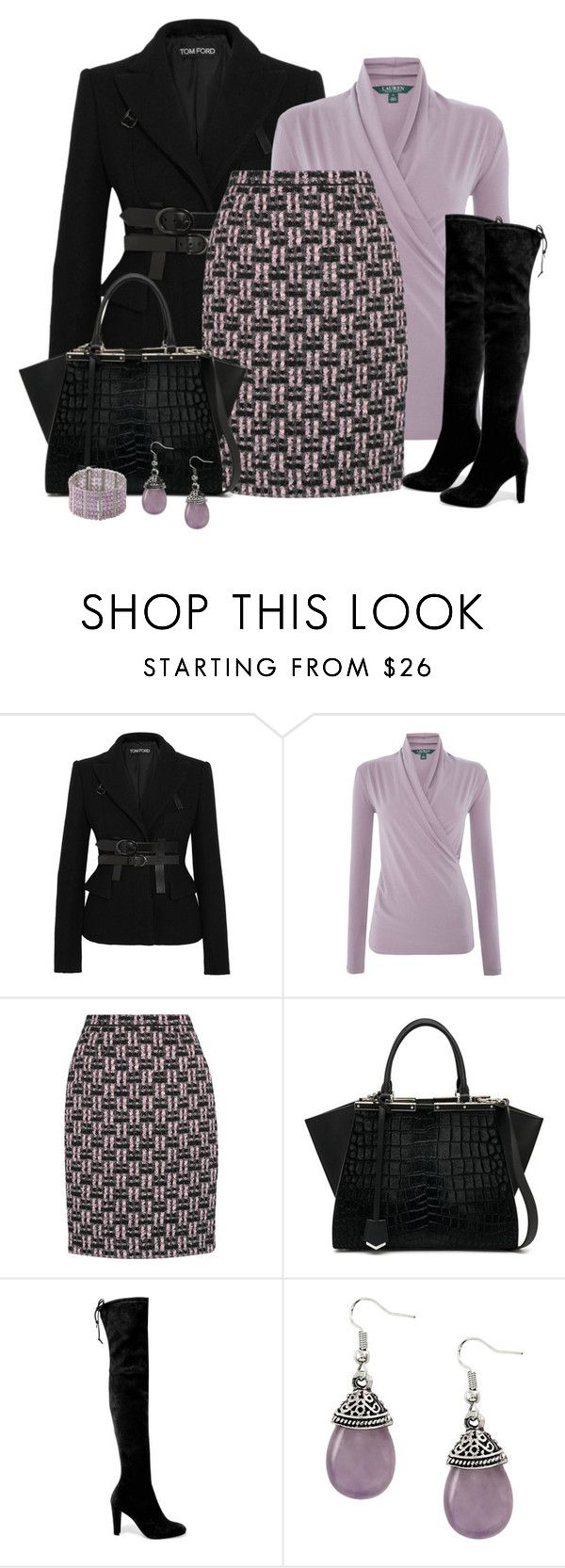 """ofis..."" by nezahat-kaya ❤ liked on Polyvore featuring Tom Ford, Lauren Ralph Lauren, Oscar de la Renta, Fendi and Stuart Weitzman"