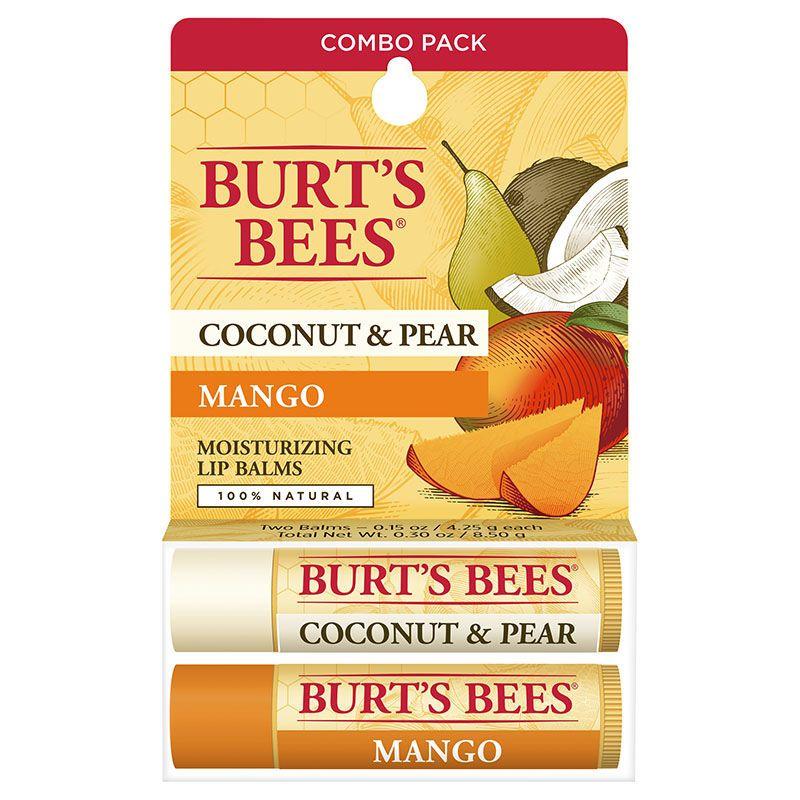 Coconut & Pear/Mango Lip Balm Twin Pack
