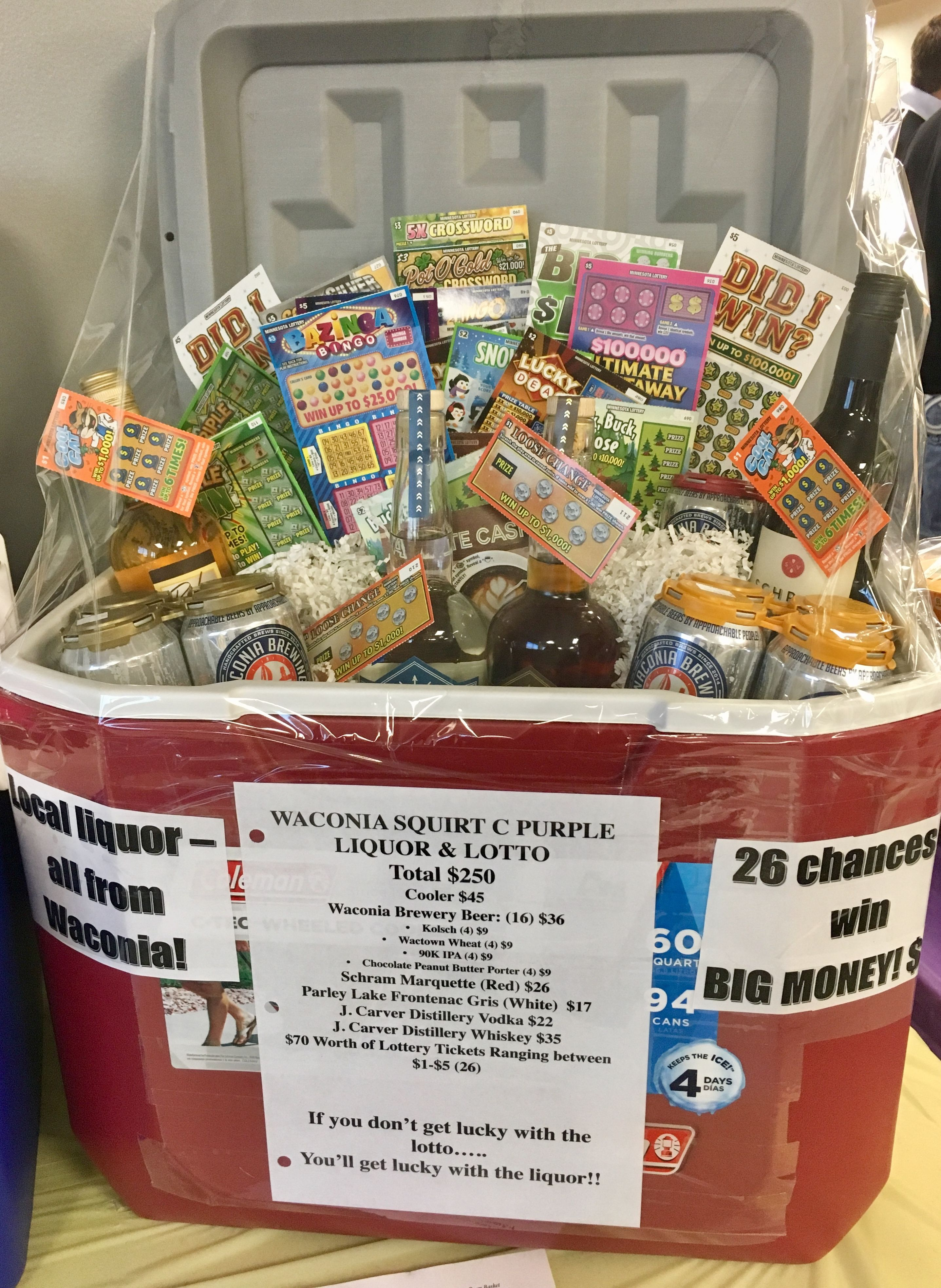 Fun Themed T Basket That I Saw At The Hockey Fundraiser