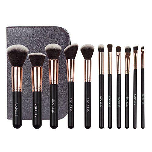 41e4e3022a1 Sixplus 11Piece Makeup Brush Set Royal Golden -- Check out this great  product. (Note Amazon affiliate link)