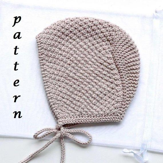 Pattern Baby Bonnet Knit Hat Pattern Knitting Patterns
