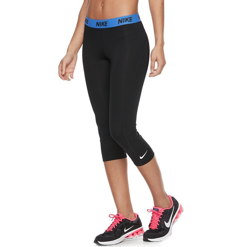 Women's Nike Cool Victory Dri-FIT Base Layer Running Capris, Size: Small, Grey (Charcoal)