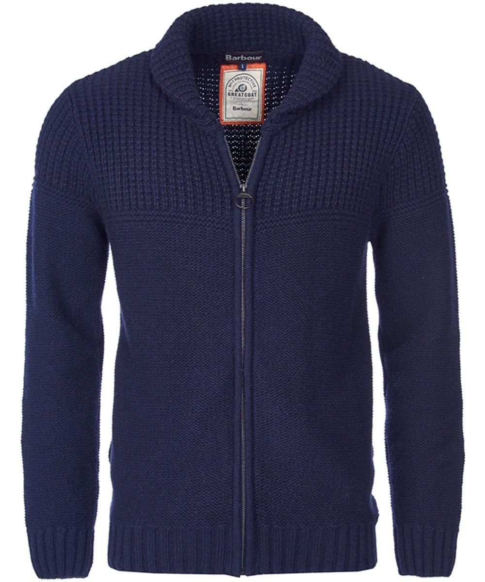The Men's Barbour Bancroft Zip Through Cardigan is ideal for your smart, yet casual look this season, crafted from 100% Lambswool for added warmth and wearability. There is contrasting stitch detailing to the top of the chest panel, adding texture and style to this cardigan. The ribbed hem and cuff also give you added attention to detail with a further texture contrast. This cardigan also features side entry pocket to the front for your convenience, subtly placed to keep a clean finish…