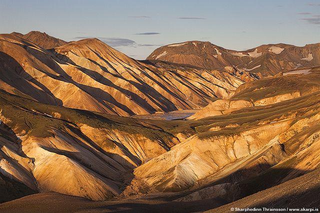 Landmannalaugar area, highlands of Iceland by skarpi - www.skarpi.is, via Flickr