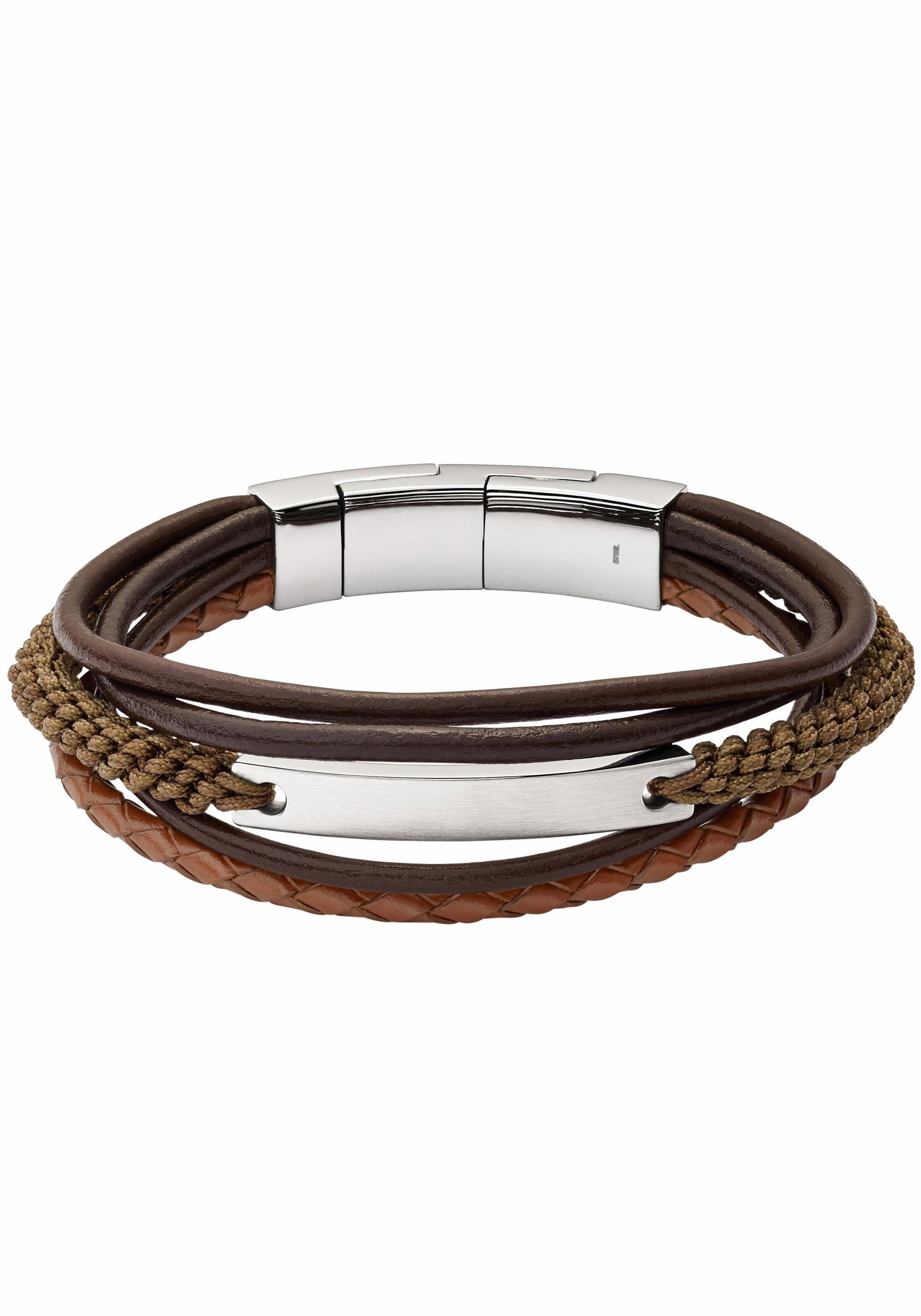 Herren Fossil Armband Mens Classics Jf02703040 Braun 04053858899933 Mode Ootd Outfit Fashion Style Onli Manner Armband Armband Armband Leder