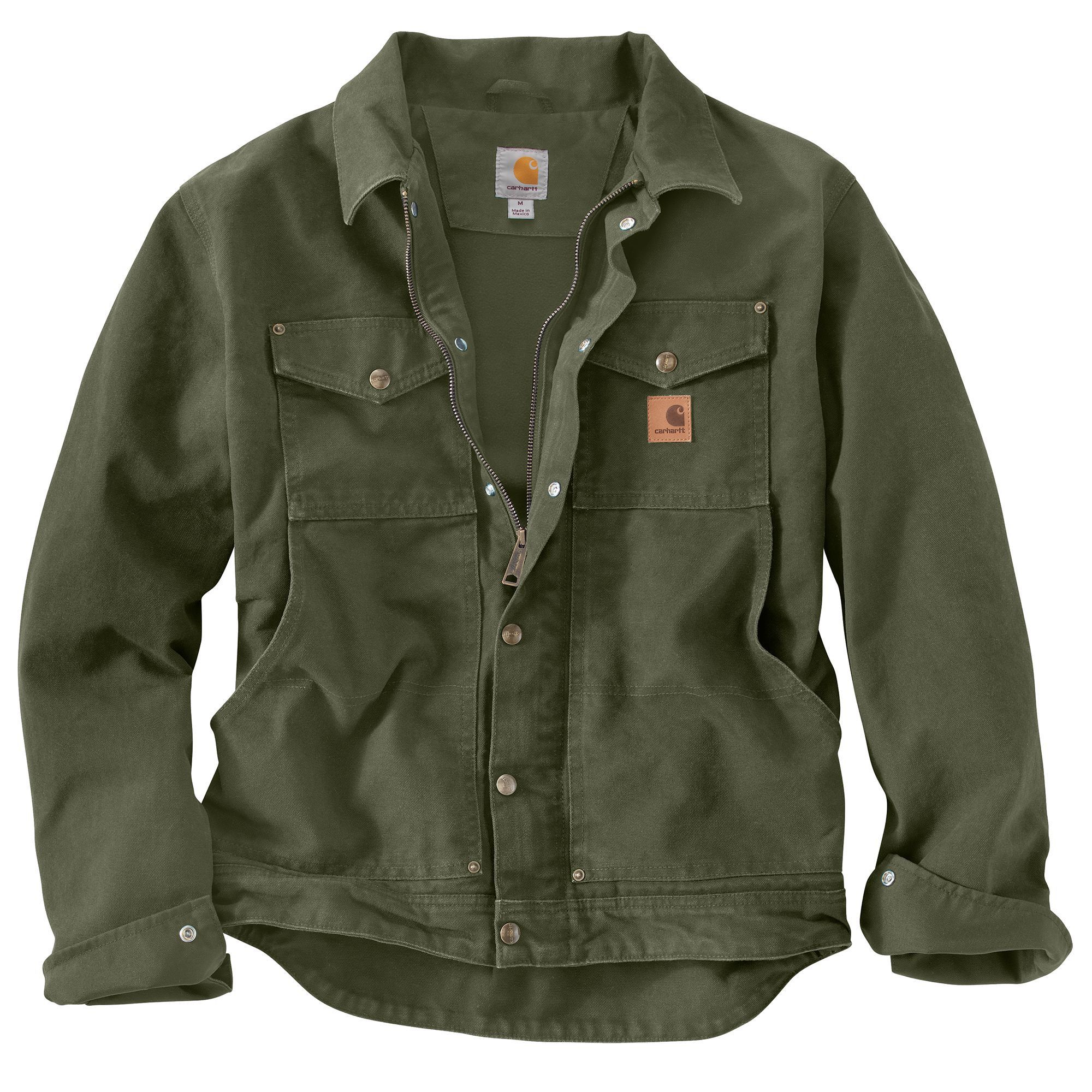 Carhartt Mens Berwick Jacket 101230 Moss 101230 391 Anvil Ladies' Sheer  Scoop-Neck Tee