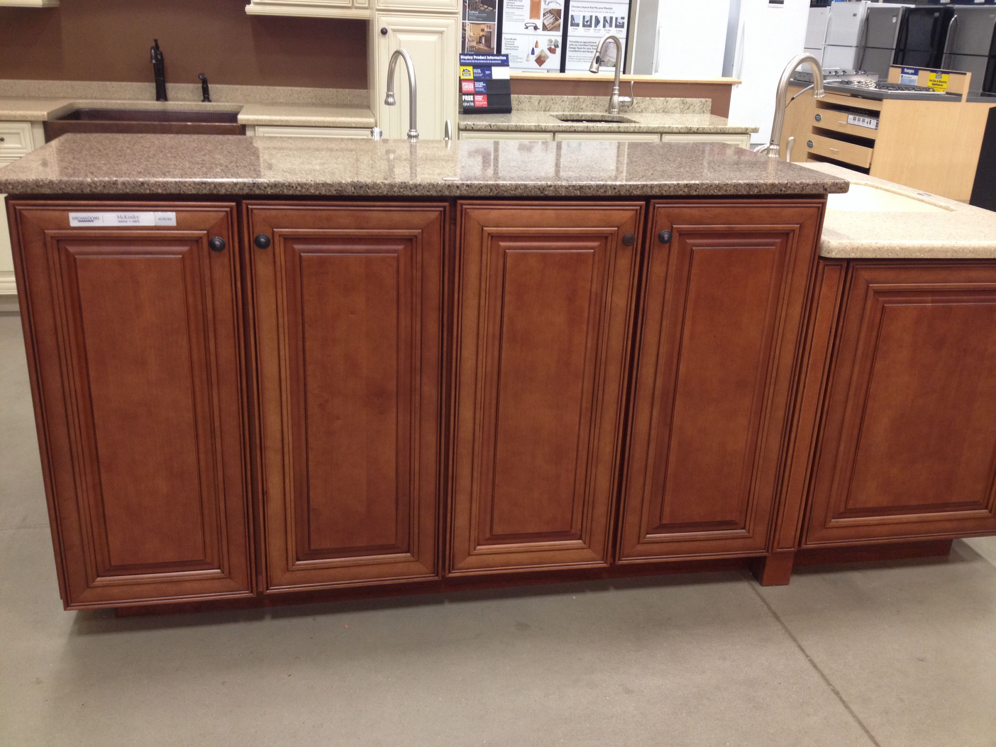 my new cabinetsshenandoah cabinets mckinley maple in With kitchen cabinets lowes with auburn stickers