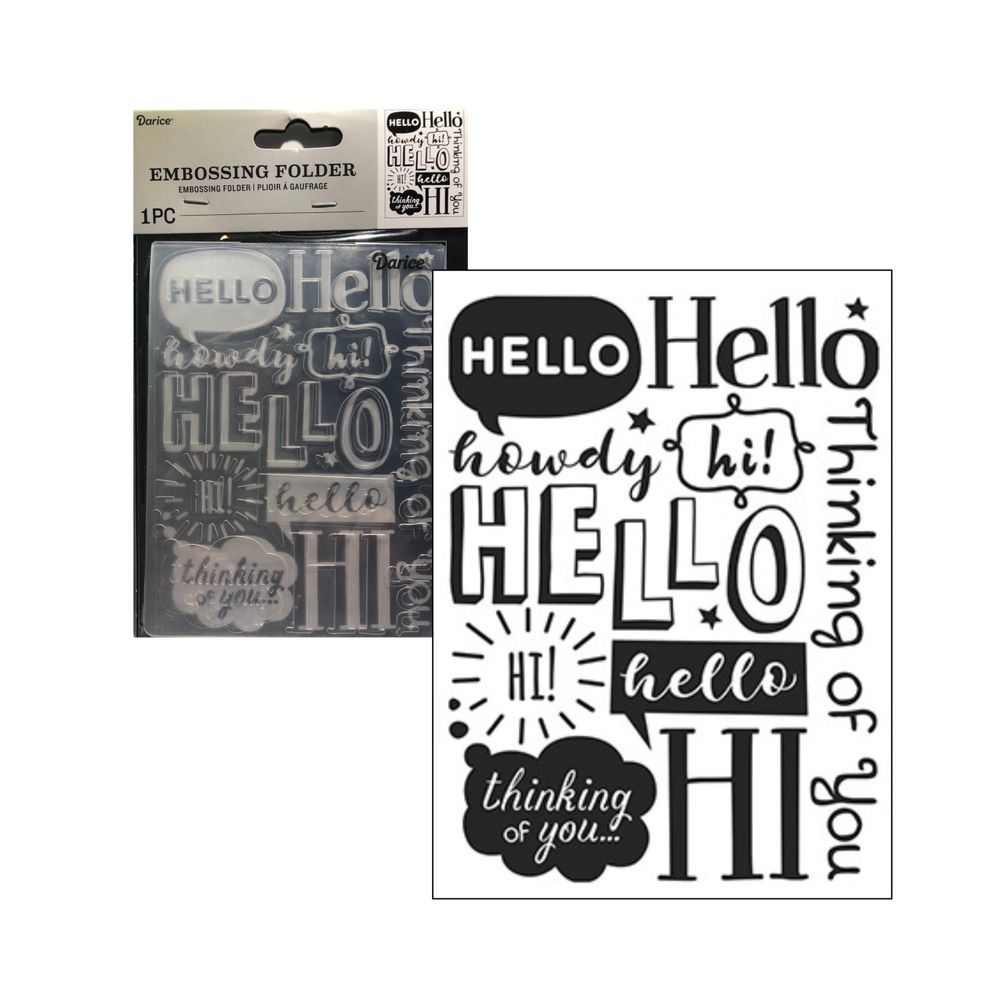 Darice embossing folders 30032602 Yay words embossing folder