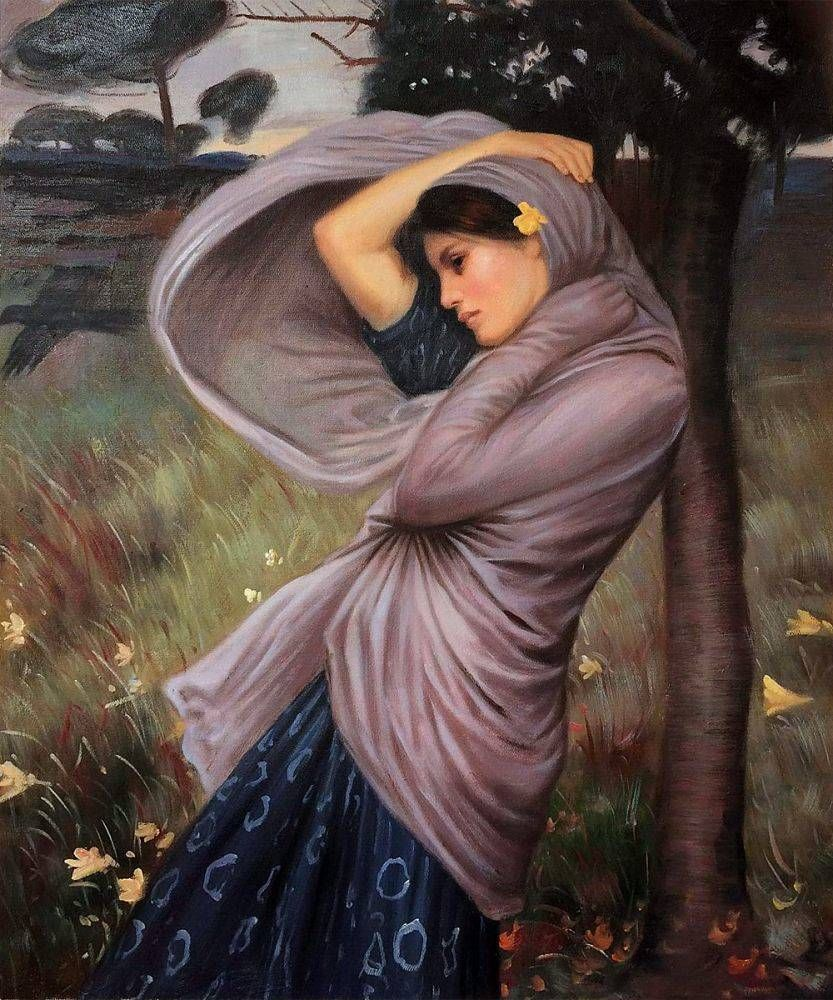 John William Waterhouse Boreas 1903 Needlepoint Canvas Print