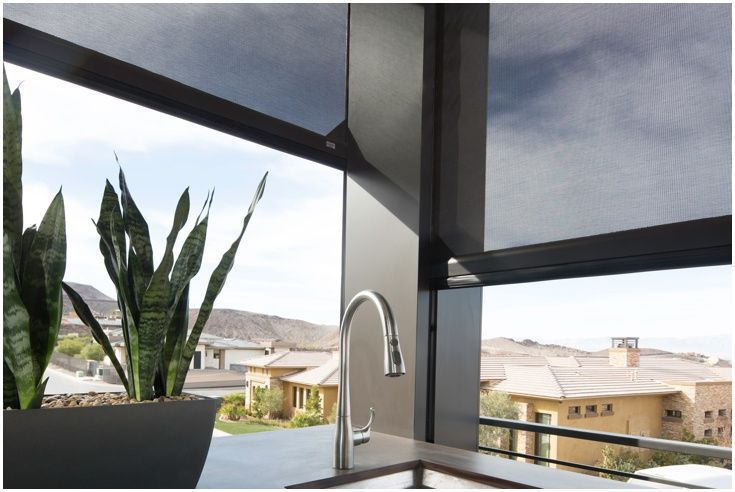 Motorized retractable screens for porches, patios and lanais Screens